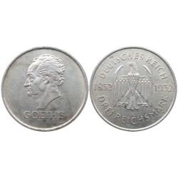 3 Reichsmark, 1932. Goethe
