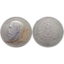 5 mark, 1875. Friedrich Grosherzog Von Bade