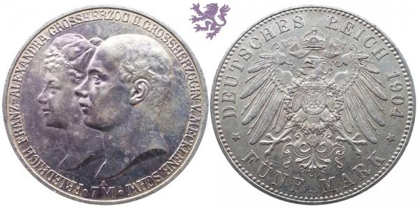5 mark, 1904. Friedrich&Alexandra