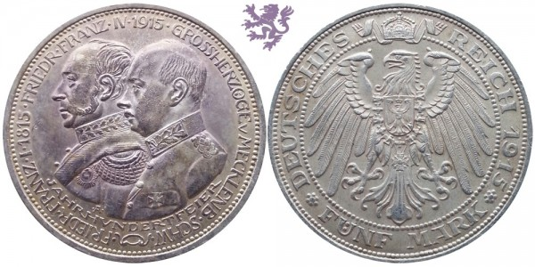 5 mark, 1915. Friedr&Franz
