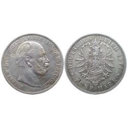 5 mark, 1874. Wilhelm I