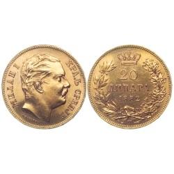 20 dinara, 1882.