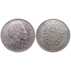 5 mark, Ludwig II Koenig