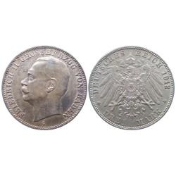 3 mark, 1912. Friedrich II Grossherzog Von Baden