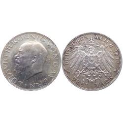 3 mark, 1914. Ludwig III Koenig Von Bayern