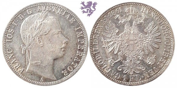1 florin, 1861. Franc Joseph