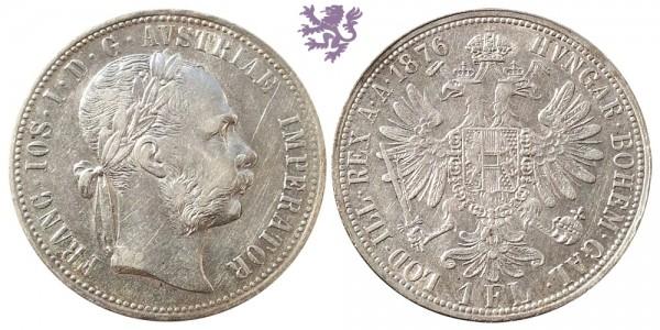 1 florin, 1876. Franc Joseph