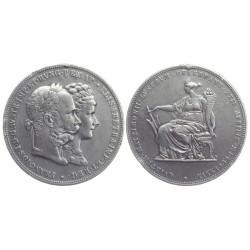 2 gulden, 1879. Franz Joseph I Silver Wedding Jubilee