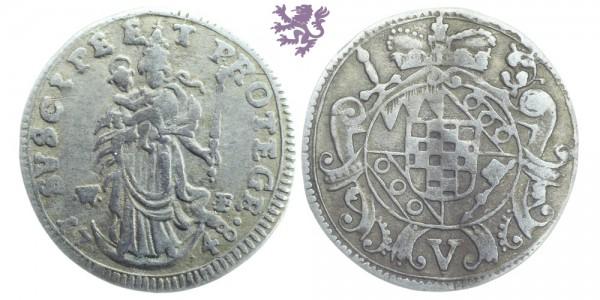 5 kreuzer, 1748 Anselm Franz