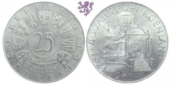 25 schilling, 1961.