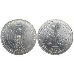 5 mark, 1973. 500th birthday of Nikolaus Kopernikus