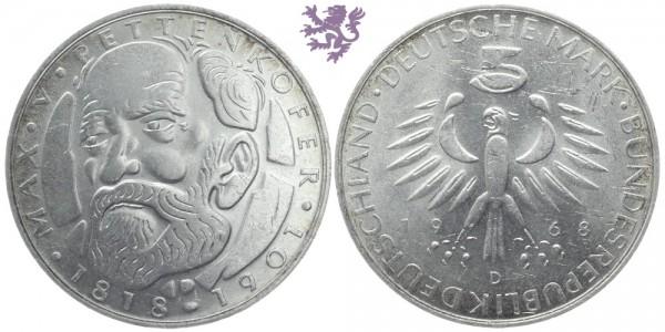 5 mark, 1968. Max von Pettenkofer