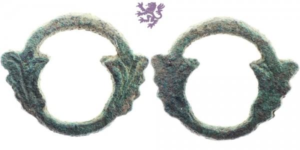 Bronze Ouroboros Celtic ring-money