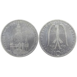 10 mark, 1995. Frauenkirche in Dresden