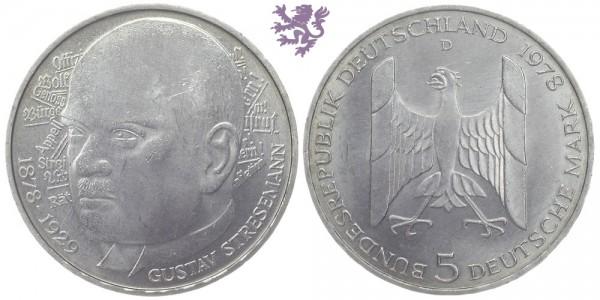 5 mark, 1978. Gustav Stresemann
