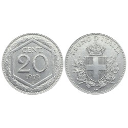 20 centesimi, 1919. Vittorio Emanule III