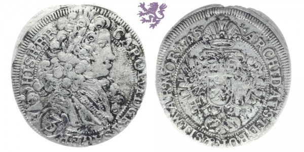 3 Kreuzer, 1715. Carol VI