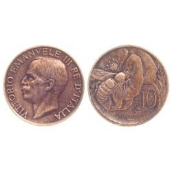 10 Centesimi, 1922. Vittorio Emanuele III