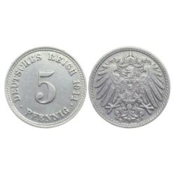5 Pfennig , 1911. Wilhelm II