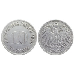 10 Pfennig, 1900. Wilhelm II