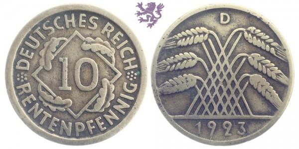 10 Reichspfennig, 1923.