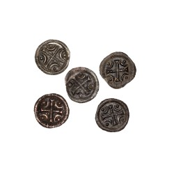 Denar, Bella II 1131 - 1141, Lot 5 pcs