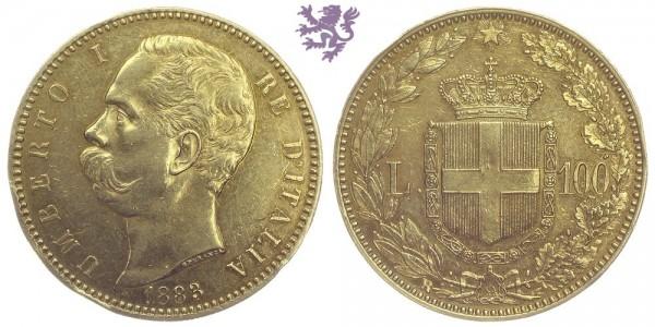 100 Lire, 1883. Umberto I