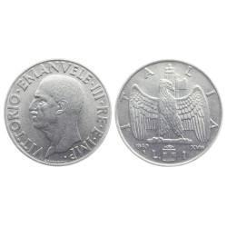 1 Lira, 1940. Vittorio Emanuele III