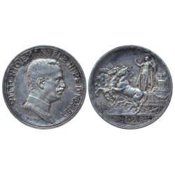 2 Lire, 1916. Vittorio Emanuele III