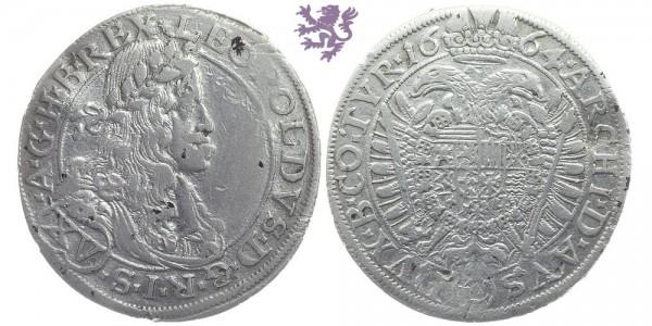 XV kreuzer, 1664. Leopold I