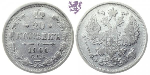 20 kopeks, 1901.