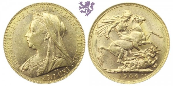 Sovereign, 1900. Victoria