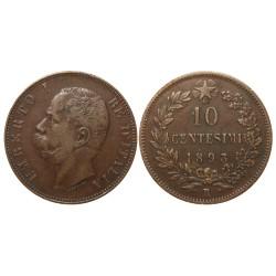10 Centesimi, 1893.