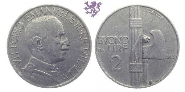 2 Lire, 1925.