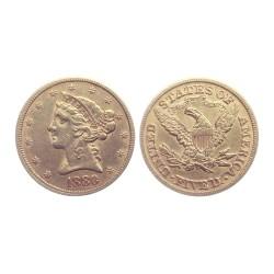 5 dollar, 1880. Liberty
