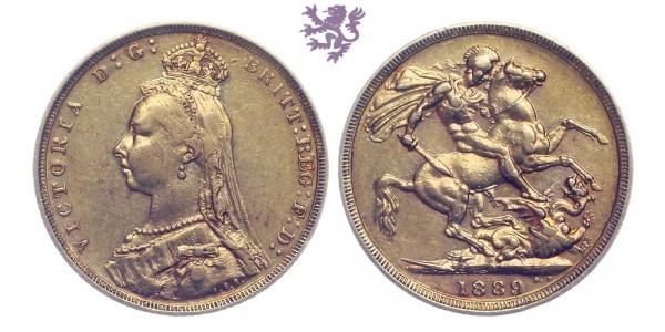 Sovereign, 1889. Victoria