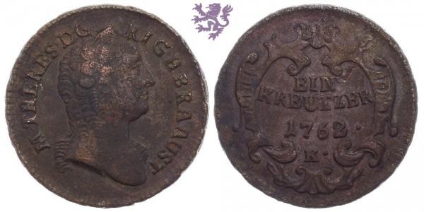 1 Kreutzer, 1762 K