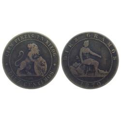 10 Centimos, 1870 OM
