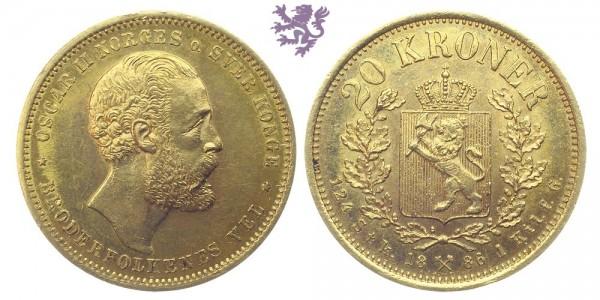 20 Kroner, 1886.
