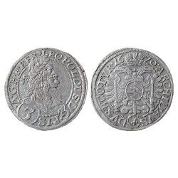 3 kreuzer, 1670.