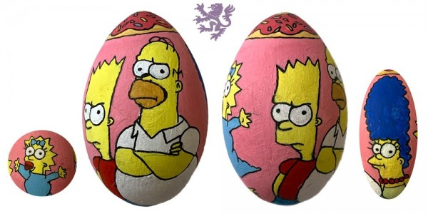 Simpsons wooden egg