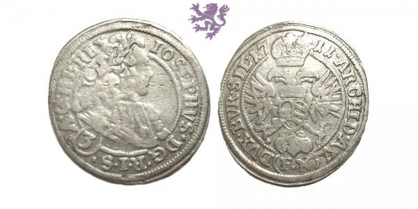 3 kreuzer, 1711.