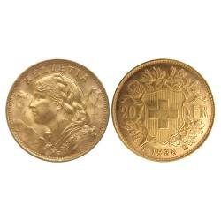 20 swiss francs, 1935.