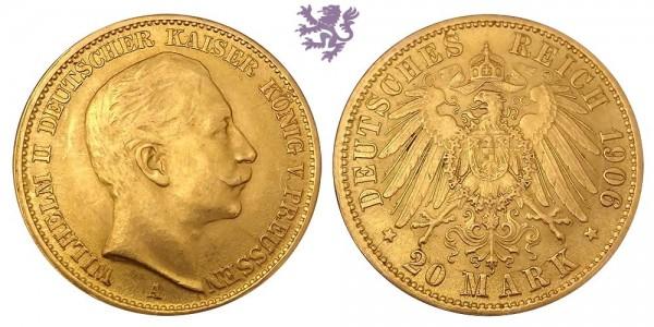 20 mark, 1906.
