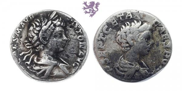 Caracalla and Geta, AR Denarius