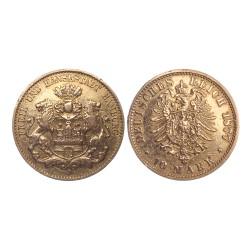 10 mark, 1877. J, Hamburg