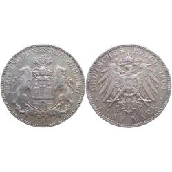 5 mark, 1904. Hamburg